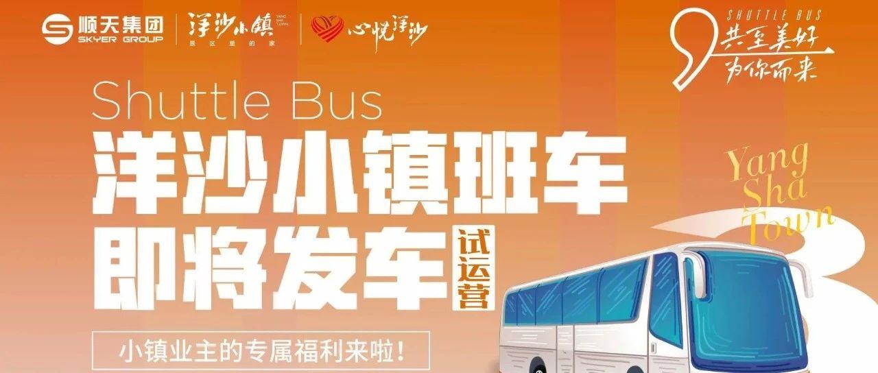 好消息!洋沙小镇周末爱心免费班车来啦!