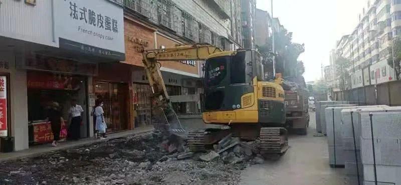 新正街人行道恢复工程最新进展