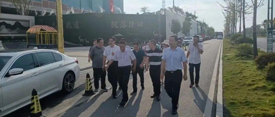 隆回县委书记刘军一行莅临隆回·乾道大院项目视察